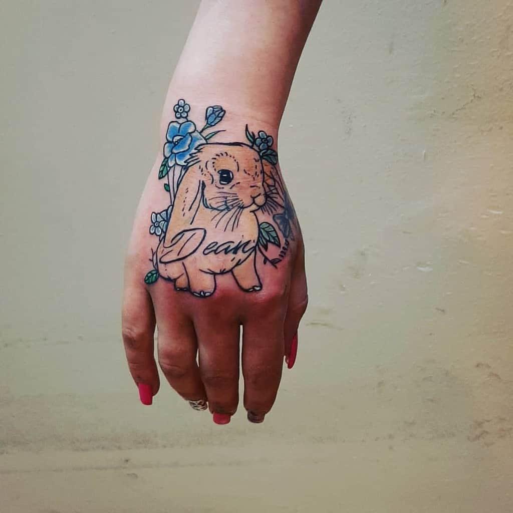 Floral Rabbit Tattoos Mullerschmidt