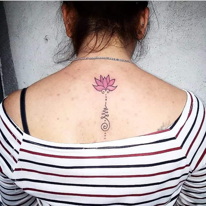 Floral Unalome Tattoo