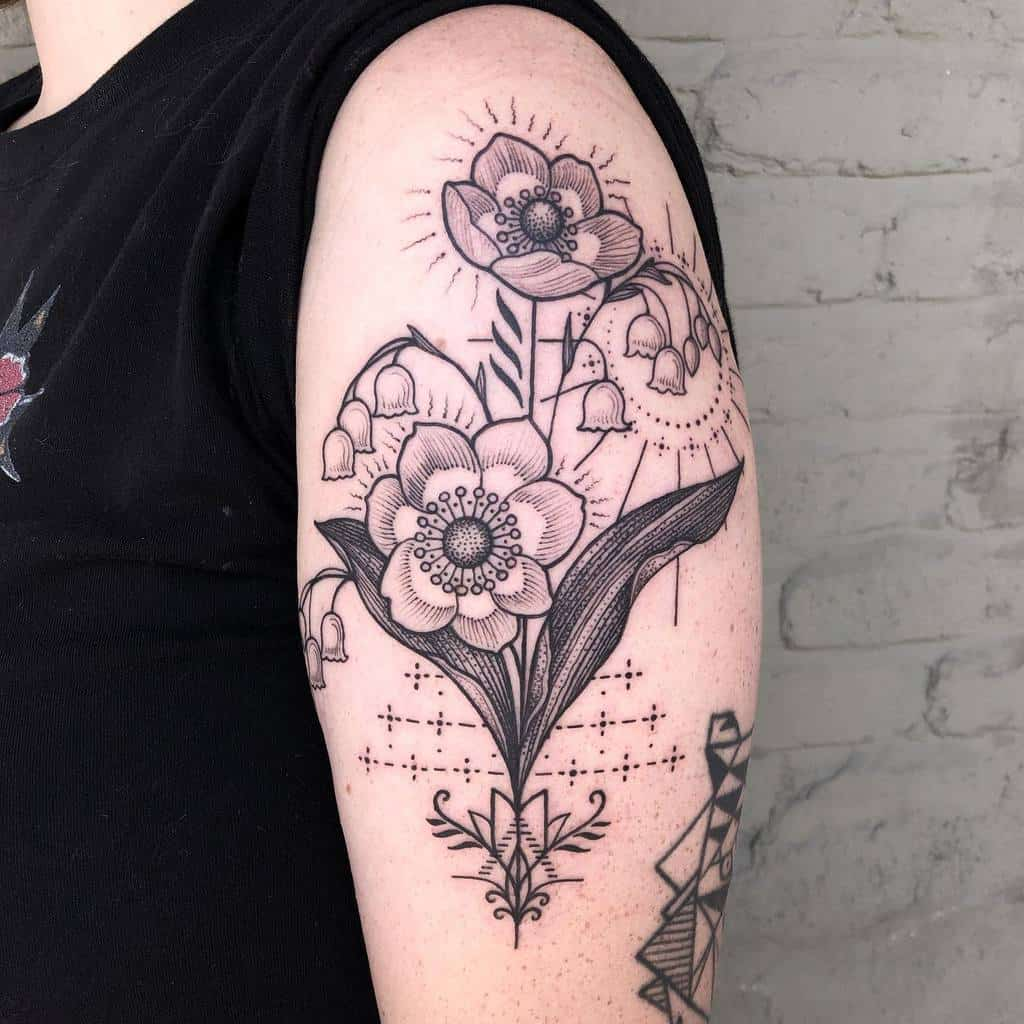 Flower Arm Lily Of The Valley Kelsey Moore Tattoo