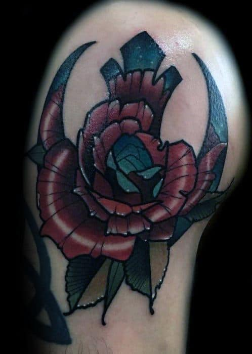 Flower Arm Rebel Alliance Mens Tattoo Ideas