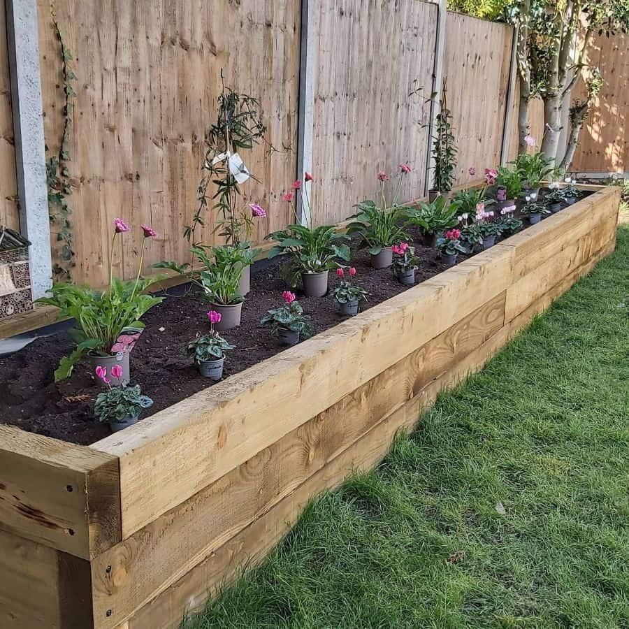 flower bed raised garden bed ideas creatingourfamilygarden