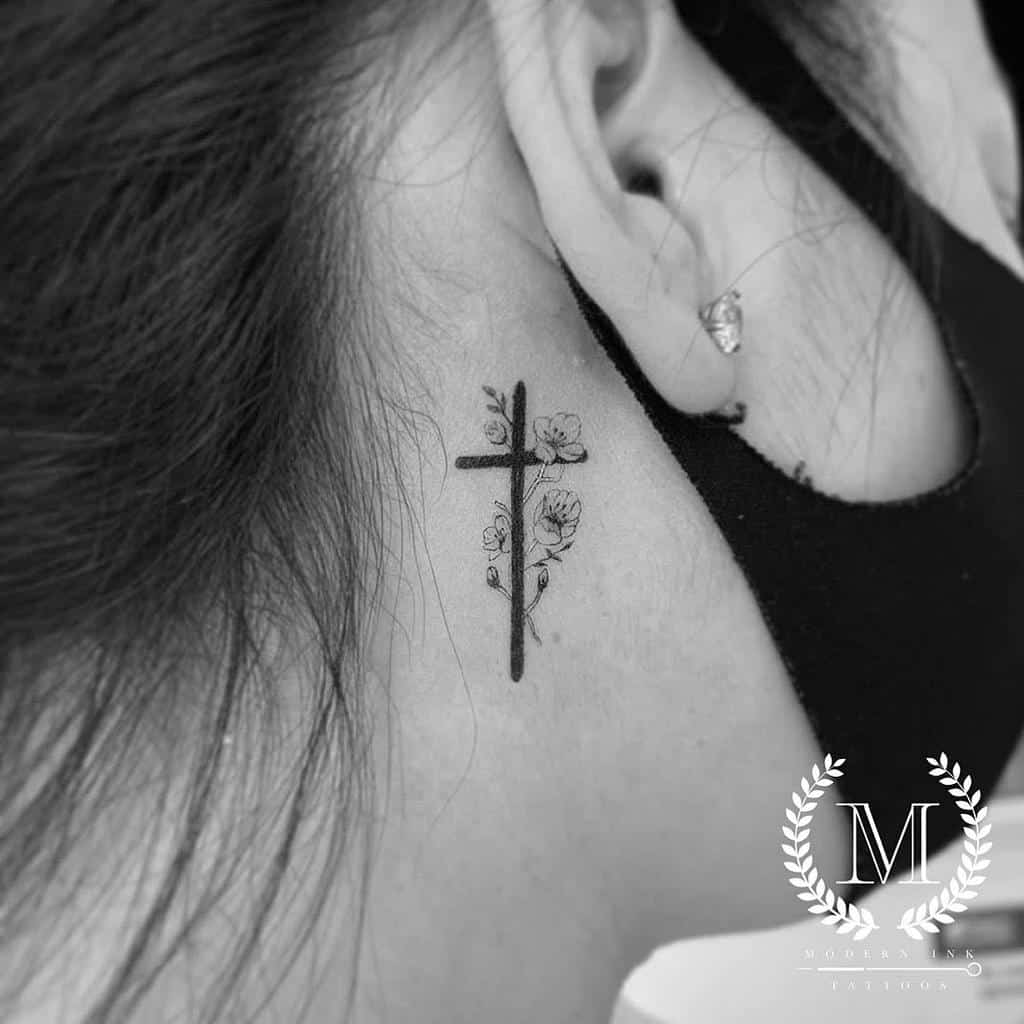 flower cross tattoos for women moderninktattoos