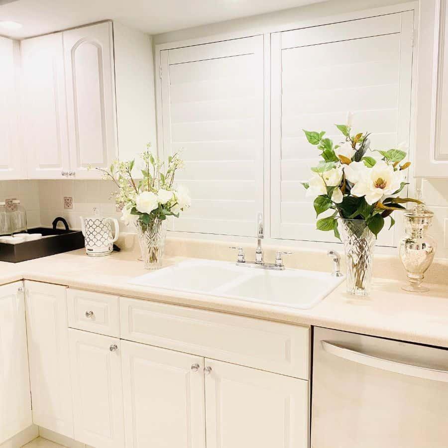 flower decor kitchen decor ideas homewithalexandra