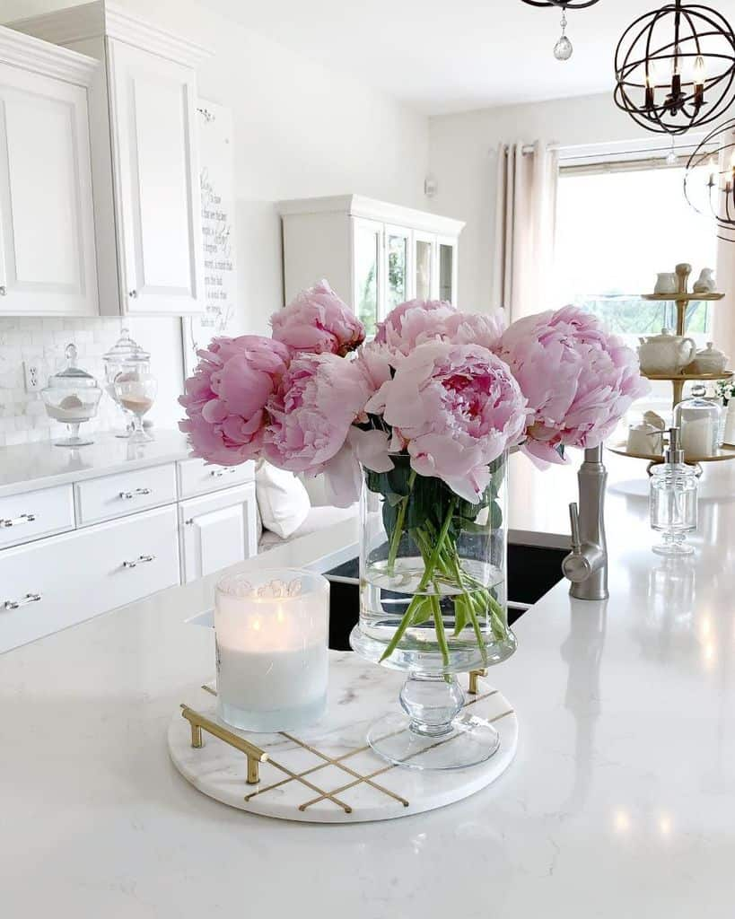 flower decor kitchen decor ideas laurisawilliamsdesign