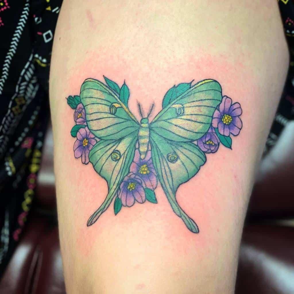 Flower Luna Moth Tattoo Such.a.scream