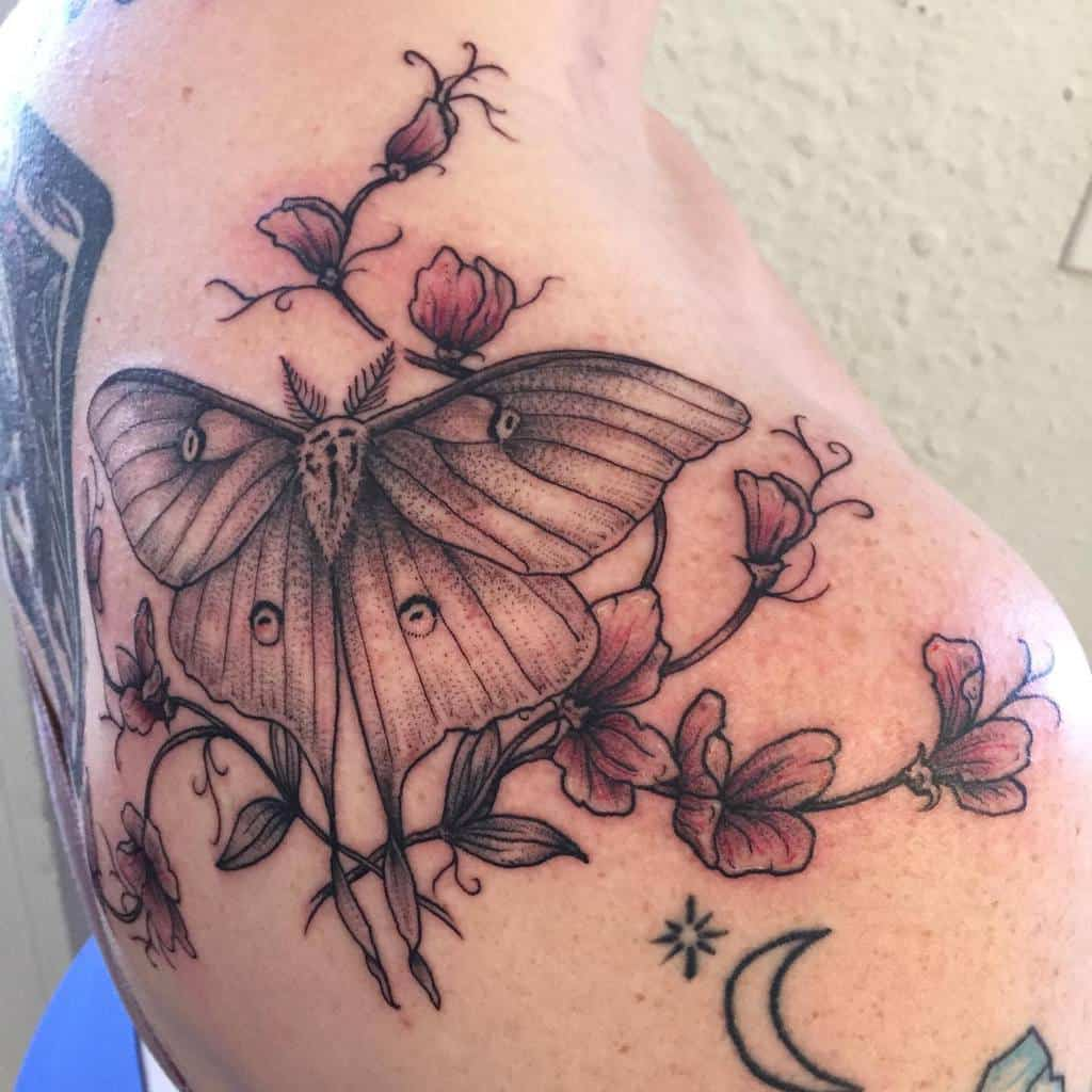 Flower Luna Moth Vivianbeastjaw