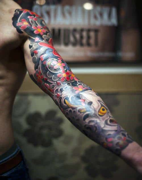 Flower Sleeve Tattoos For Men