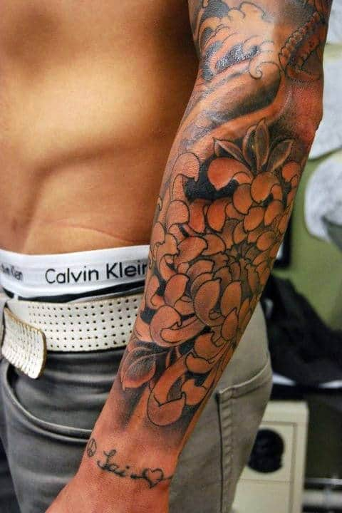 50 Flower Tattoos For Men - A Bloom Of Manly Design Ideas