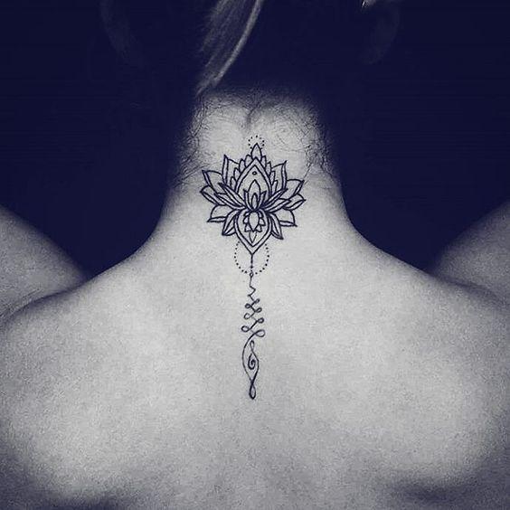 Flower Unalome Tattoo