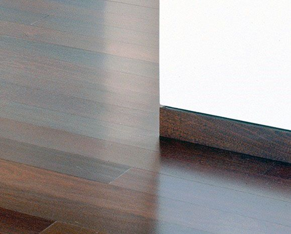 Flush Solid Stained Wood Modern Baseboard Ideas With Hardwood Flooring