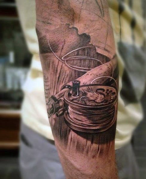 Fishing reel tattoos
