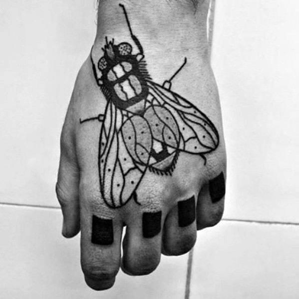 Fly Guys Tattoos On Hand