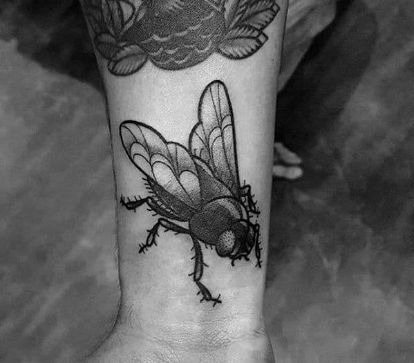 Fly Tattoo Design On Man
