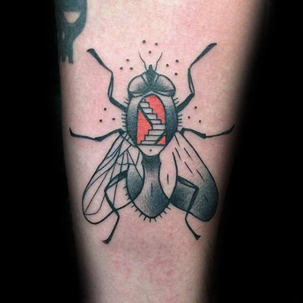 50 Fly Tattoo Designs For Men - Insect Ink Ideas