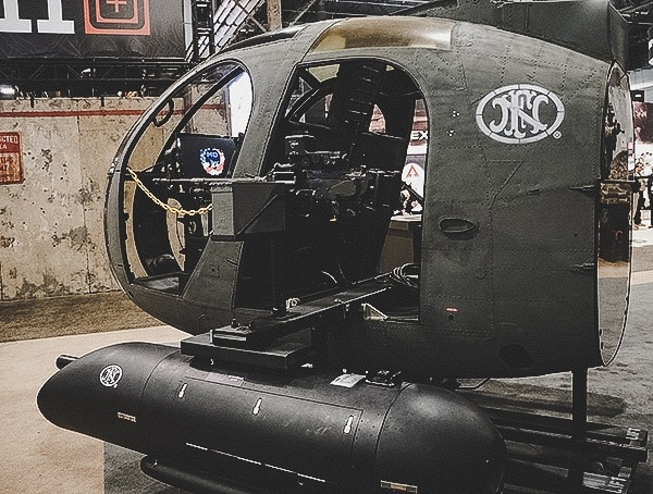 Fn Helicopter Display At Shot Show 2019 Las Vegas
