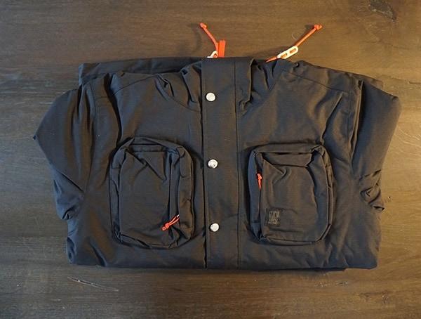 Folded Topo Designs Mens Black Mountain Jacket