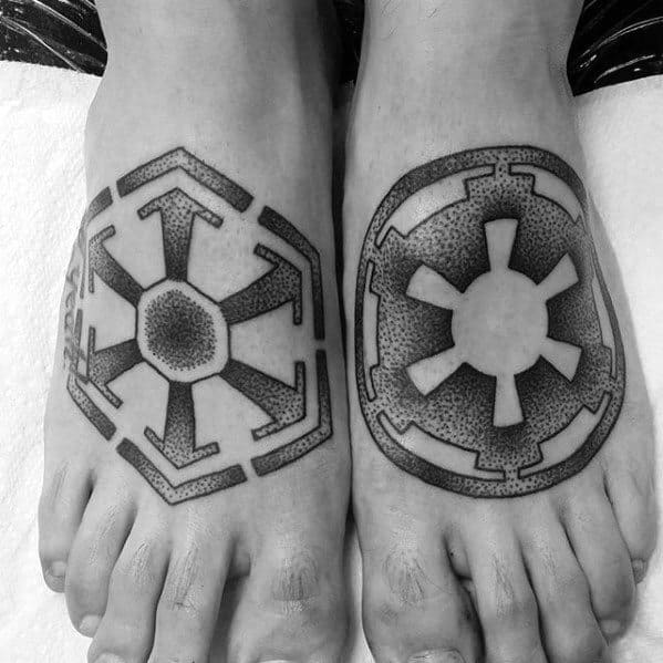Foot Sith Symbol Tattoo Designs For Guys