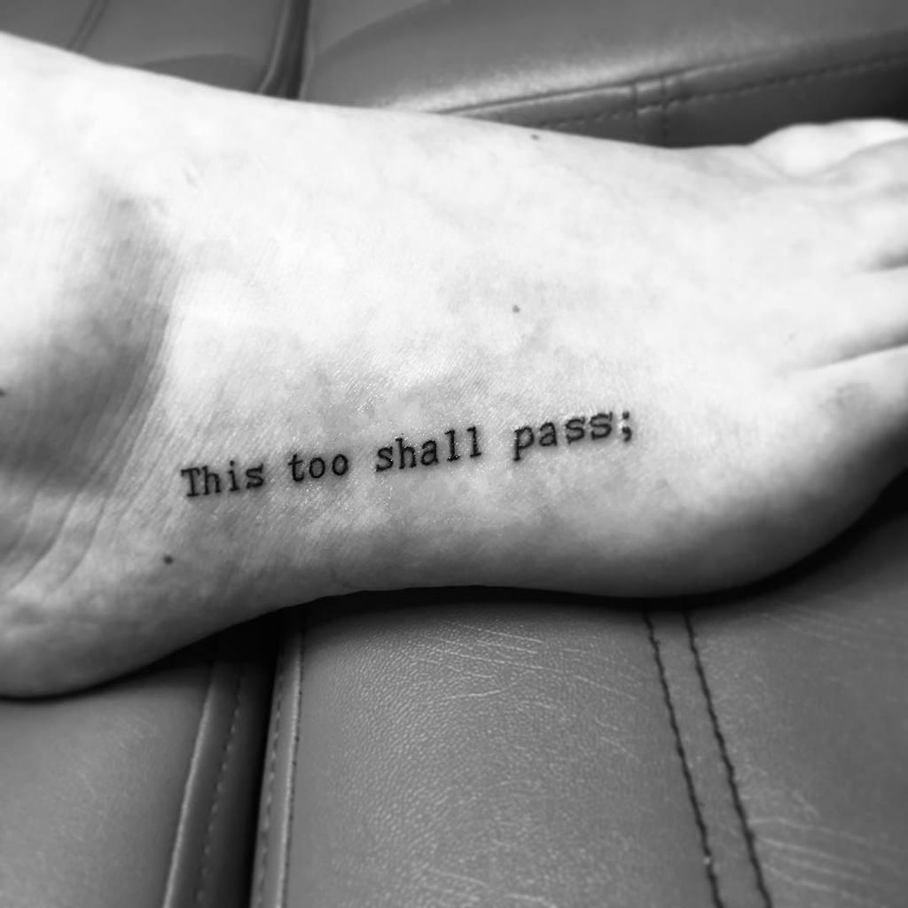 Foot Typewriter Tattoo