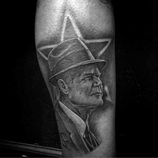 Football Coach Dallas Cowboys Gus Leg Tattoo