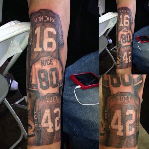 Football Jerseys Mens Forearm Tattoos