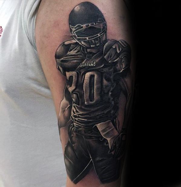 Football Sports Tattoo On Men
