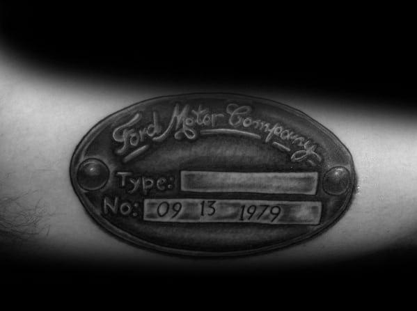Ford Tattoo Designs For Gentlemen