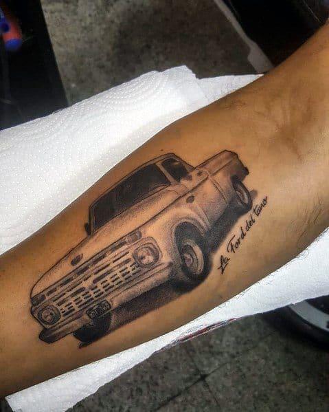 Ford Tattoo On Man