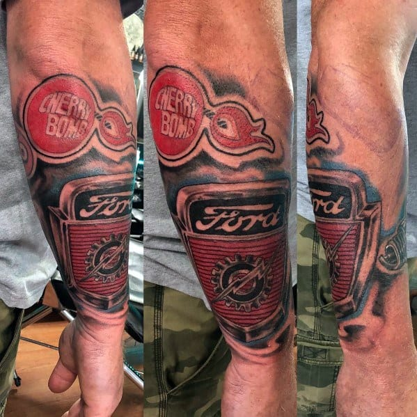 Ford Themed Tattoo Ideas For Men