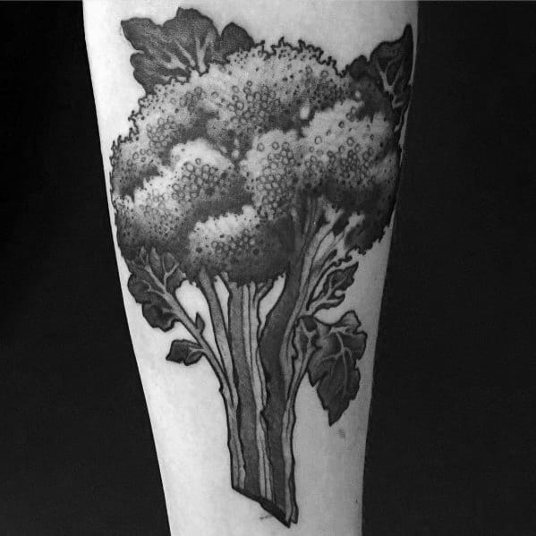 Forearm 3d Black And Grey Guys Broccoli Tattoos