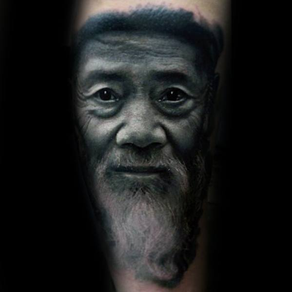 Forearm 3d Portrait Male Tattoo Designs