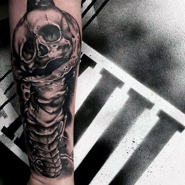 Forearm 3d Realistic Centipede Tattoo Ideas On Guys