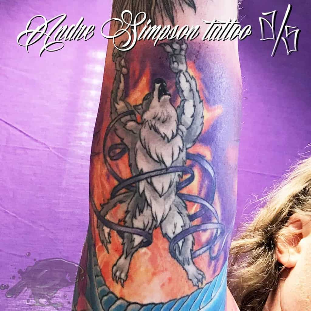 forearm Norse Wolf Tattoos andresimpson999