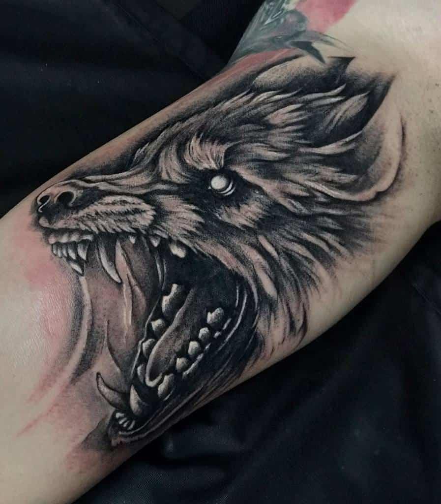 forearm Norse Wolf Tattoos gvozdikovtattoo