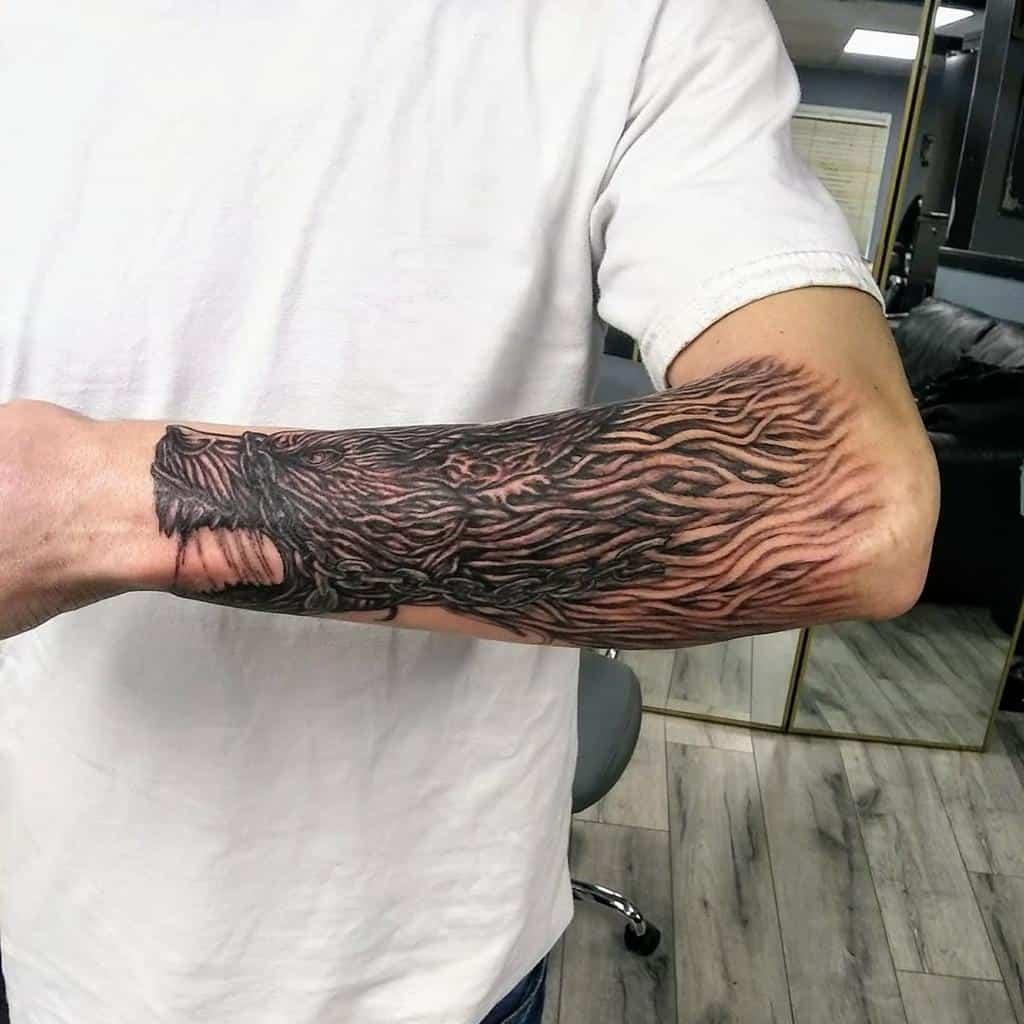 forearm Norse Wolf Tattoos inkantations292