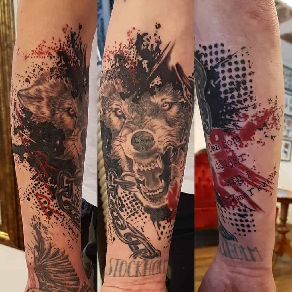forearm Norse Wolf Tattoos lillamystyletattoo