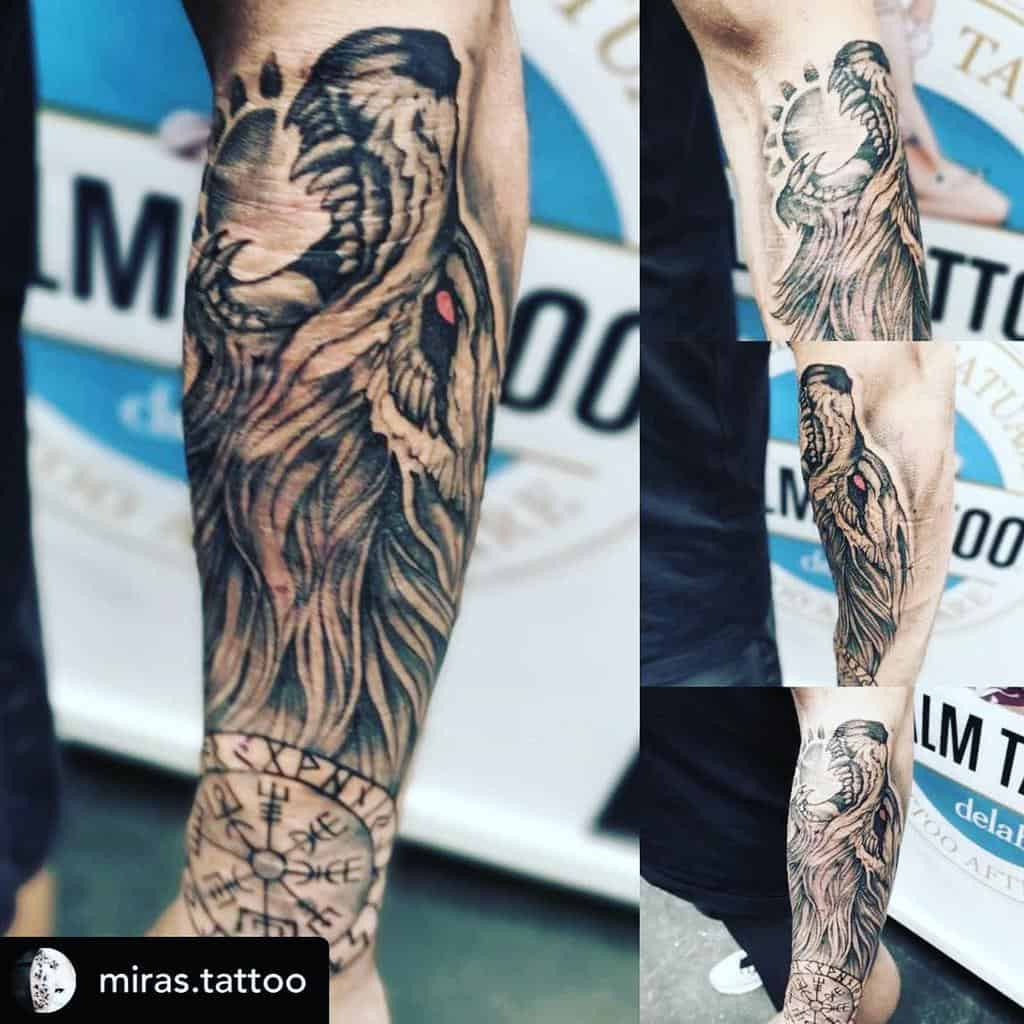 forearm Norse Wolf Tattoos ross.hellberg