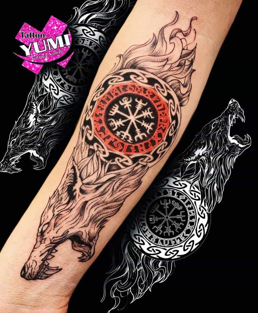forearm Norse Wolf Tattoos tattoo_yumi