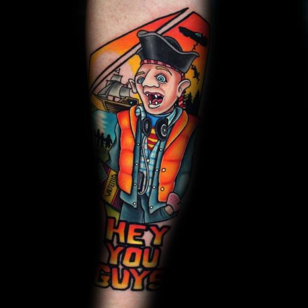 Forearm Amazing Guys Goonies Tattoo