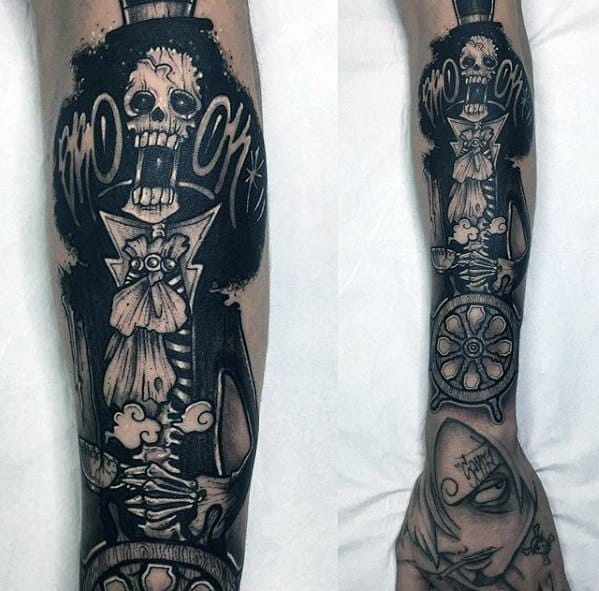 Forearm And Hand One Piece Male Tattoo Designs