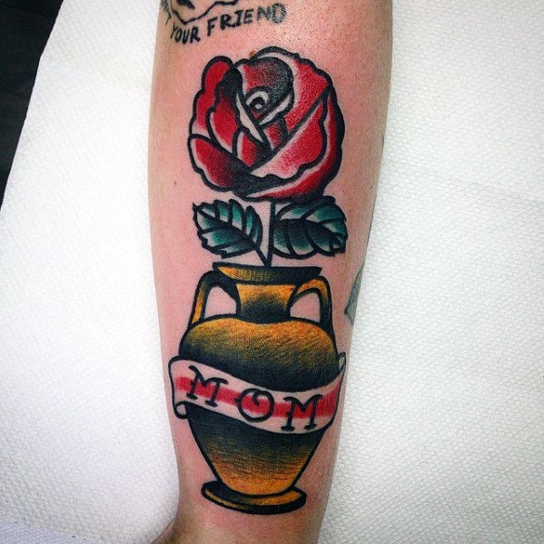 Forearm Awesome Traditional Mom Tattoos For Men
