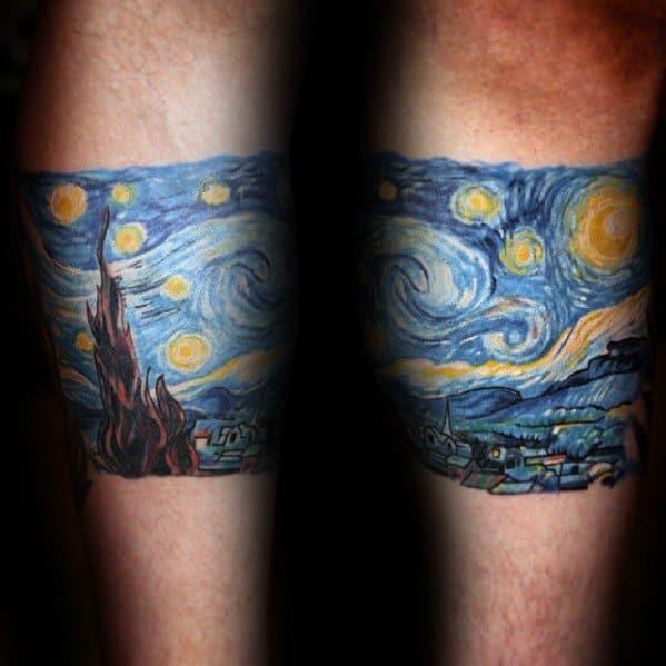 Forearm Band Guys Starry Night Tattoos