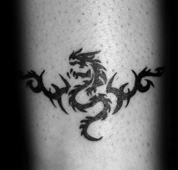 Forearm Band Simple Dragon Guys Tattoos