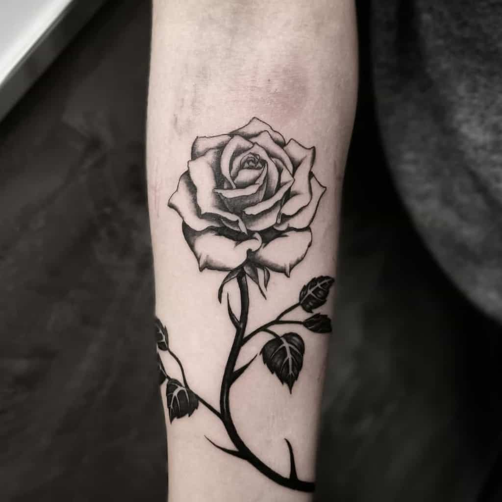 Top 61 Best Black And White Rose Tattoo Ideas 2021 Inspiration Guide