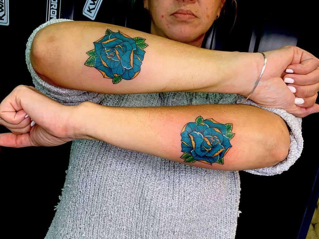 forearm blue rose tattoos jaliltattoo18