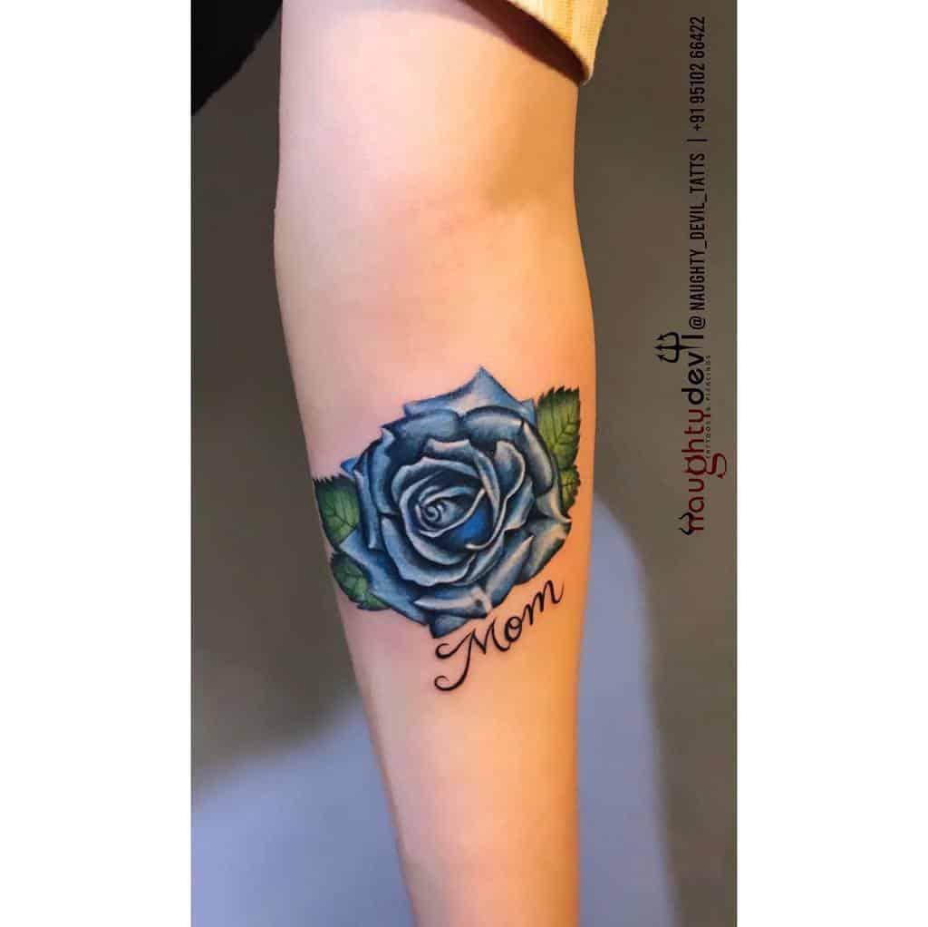 forearm blue rose tattoos naughty_devil_tattoo