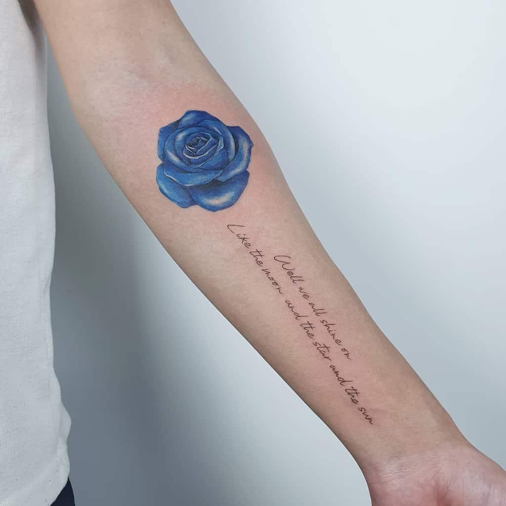 forearm blue rose tattoos tattoo_burgundy