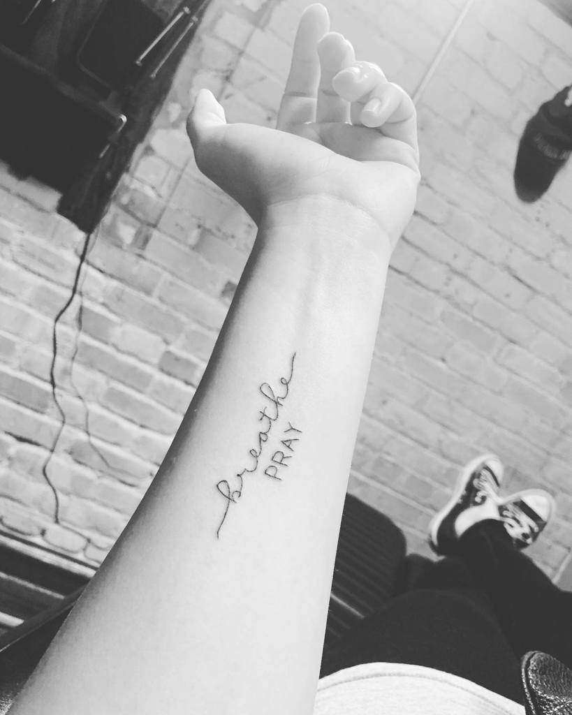 forearm breathe tattoos minimalisbeautiful