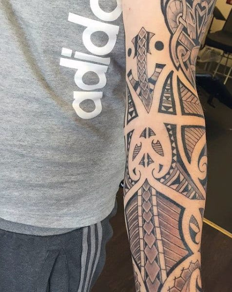 Forearm Celtic Designs For Men's Tattoos
