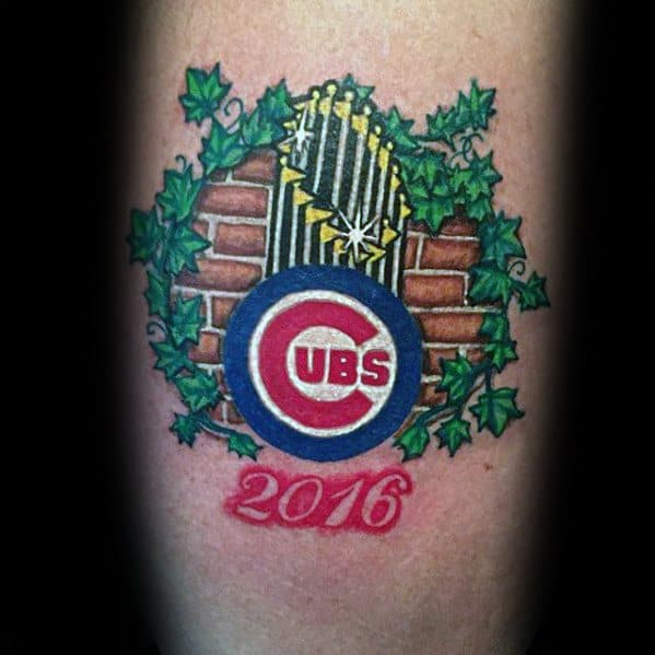 Forearm Chicago Cubs Tattoo Designs For Men