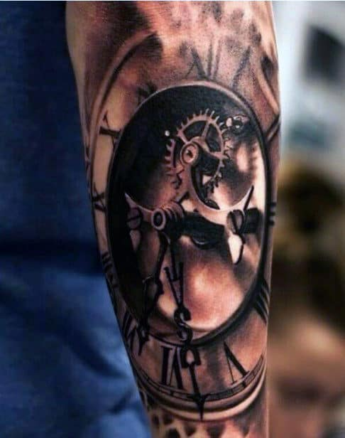 Forearm Click Tattoo Designs For Men